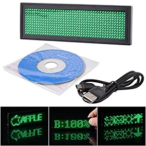 XCSOURCE Rechargeable Blue LED Programmable Badge Display with USB Programming LD420