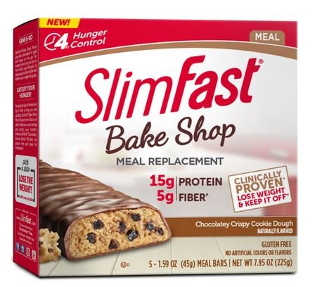 Slimfast Meal Replacement Hunger Control Bake Shop Crispy Cookie Dough Bar 1.59 oz-Pack of ()