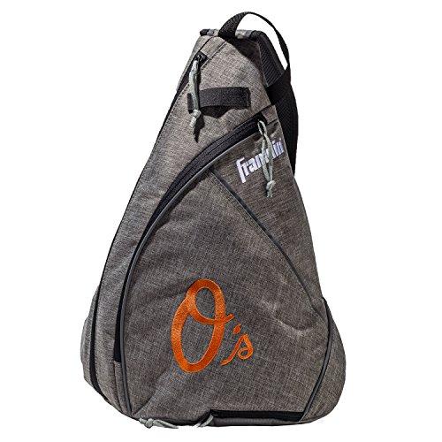 Franklin Sports Baltimore Orioles Slingback Baseball Crossbody Bag - Shoulder Bag w/Embroidered Logos - MLB Official Licensed Product