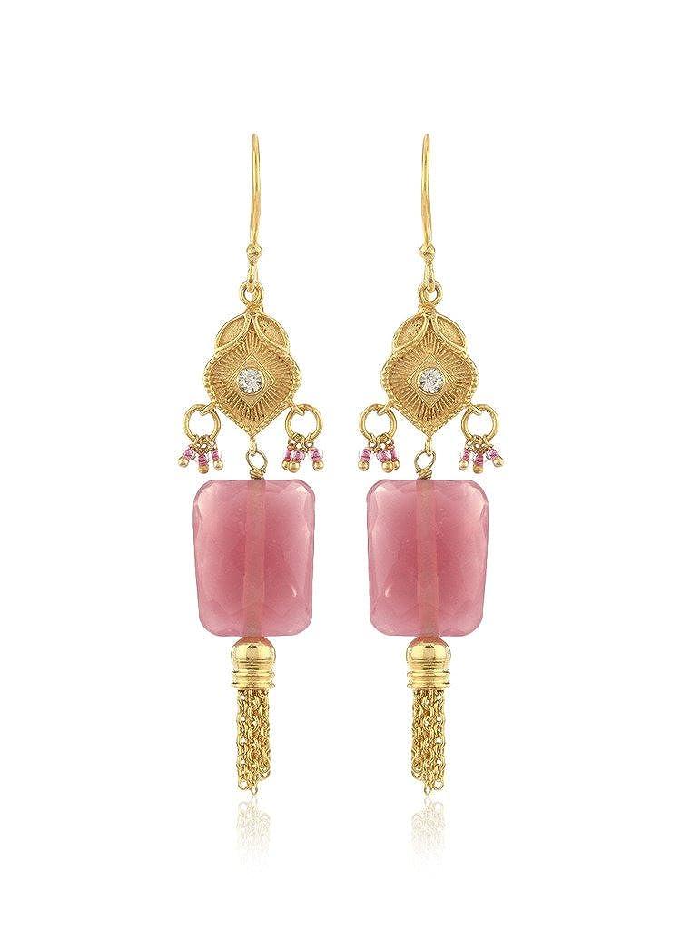 Thingalicious Pink Metal Dangle & Drop Earring for Women