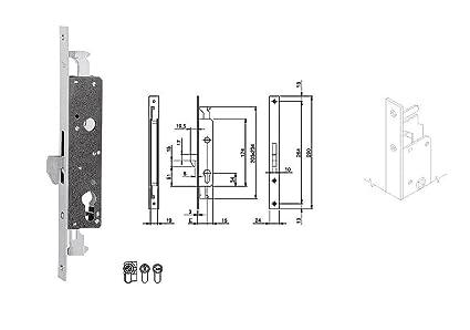 iseo 783254b cerradura para encajar Entrada 25 mm frontal Acero 24 mm Cierre Triple de metálicos