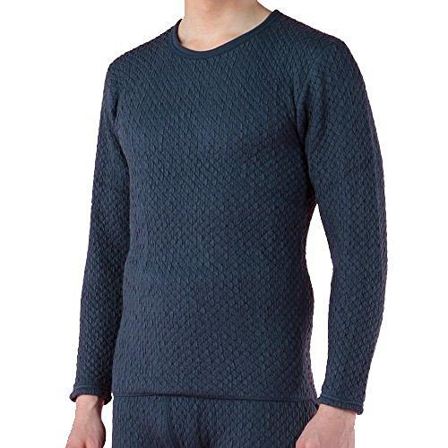 コンテンポラリータウポ湖アクセシブル健康肌着 ひだまり チョモランマ 紳士長袖丸首シャツ( 防寒肌着 あったか肌着 紳士肌着 ) (M:胸囲 88~96?ウエスト76~84?身長165~175)