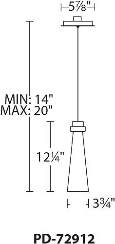 WAC Lighting PD-72912-BN DweLED Future 12in LED Mini Pendant 3000K