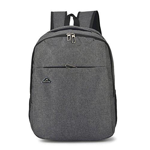 Price comparison product image Topromise Mens canvas backpack laptop bag multipurpose daypack bag crossbody shoulder bag gray