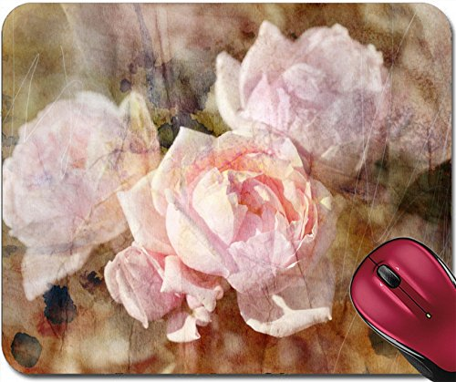 Price comparison product image Liili Mousepad IMAGE ID 32146812 beautiful vintage retro roses on watercolor background