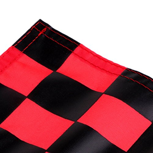 Prettyia 4Pcs Golf Chequered Flag Backyard Outdoor Putting Green Practice Aids Flags for Golf Club by Prettyia (Image #4)