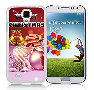 Galaxy S4 Case,Merry Christmas Gift Jingling Bell Christmas Series-TPU White S4 Protective Case,Samsung S4 I9500 Case
