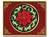 "Poinsettia Tempered Glass Cutting Board, 15"" x 12"""