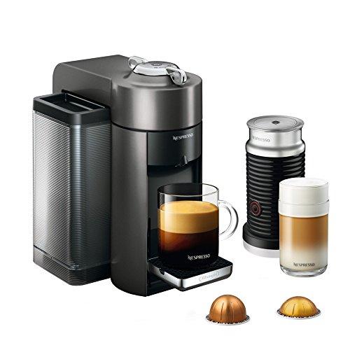 - Nespresso Vertuo Evoluo Coffee and Espresso Machine with Aeroccino by De'Longhi, Graphite Metal