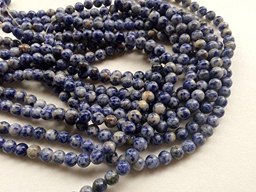 1 Strang Natur Sodalith Glatte Runde Kugeln, blau Sodalith Halskette, 8 mm, 35,6 cm B0764T8S75 Halsketten Sehr gelobt und vom Publikum der Verbraucher geschätzt | Eleganter Stil