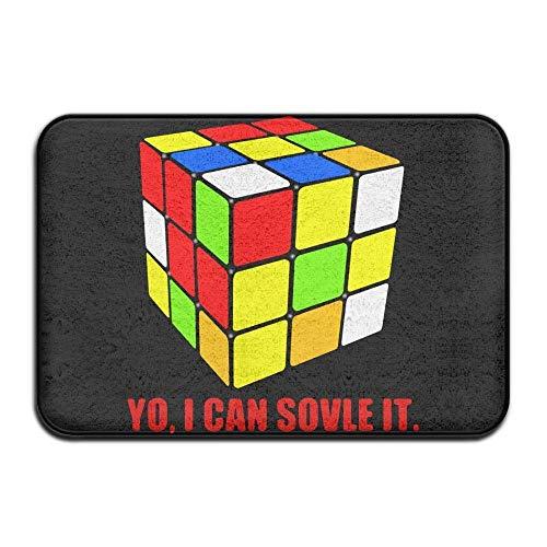 (BHUIA Inside Absorbs Mud Doormat I Can Solve It Rubix Cube Design Pattern Livingroom)
