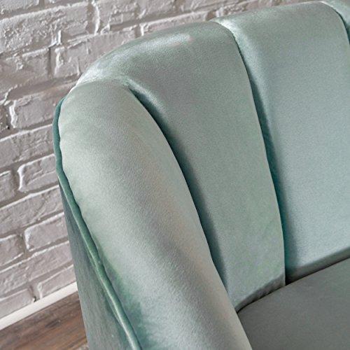 Scarlett Modern Seafoam Blue Velvet Sofa