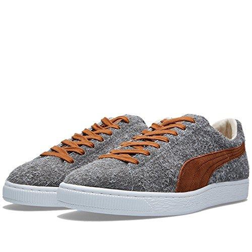 Puma Seleziona Uomo Suede Angora Giapponese Sneakers Calcare Grigio / Pelle Marrone