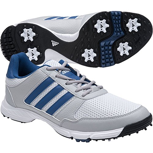 adidas Men's Tech Response 4.0 Golf Shoe, White/Royal, 10.5 M US