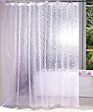 Kuber Industries PVC AC Curtain with 8 Rings - 9ft, White