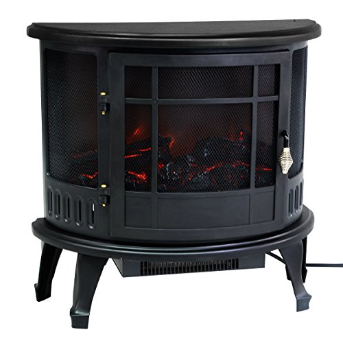 Electric Kitchen Stoves Reviews ~ Giantex free standing electric w fireplace heater fire