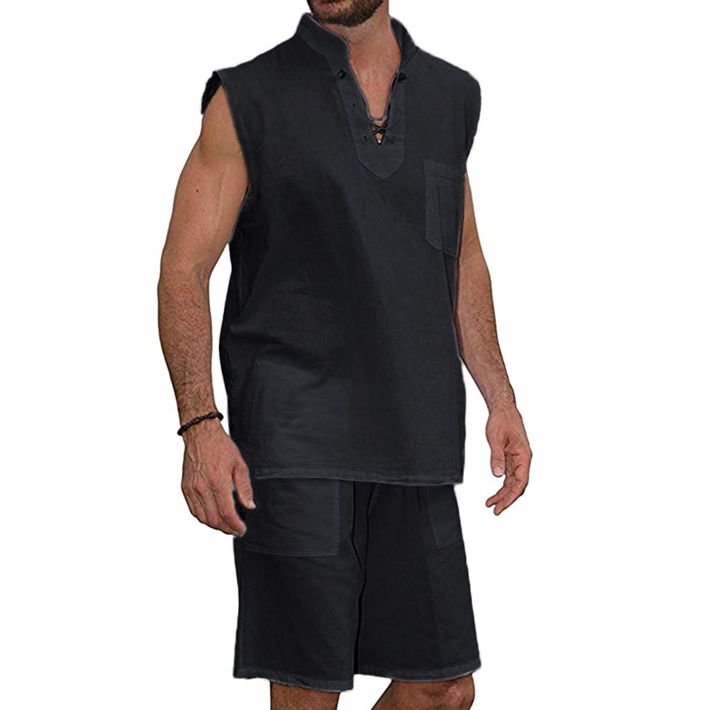 YKARITIANNA Men's Fashion T-Shirt Tee Hippie Shirts Short Sleeve Beach Shirt Shorts Suit