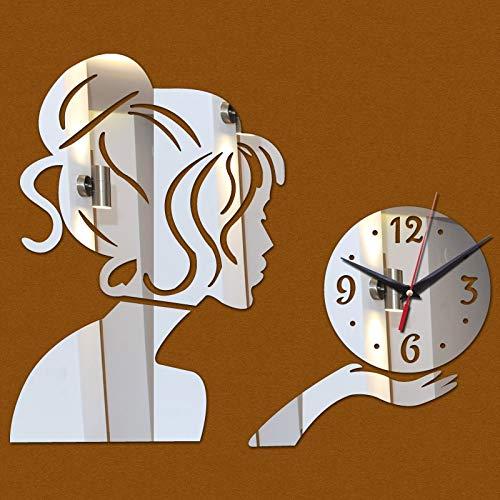 HYXLN Quartz Sale Home Decor Water Needle Modern Acrylic Mirror Wall Clock Stickers Wallpaper DIY Clocks