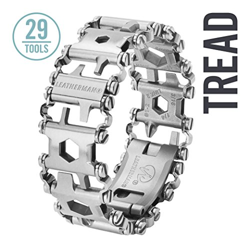 Leatherman - Tread Bracelet, The Original Travel Friendly Wearable Multitool, Stainless Steel (FFP)