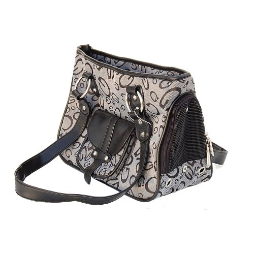 Designer Style G Printed Pet Dog Cat Purse Tote Carrier, 16
