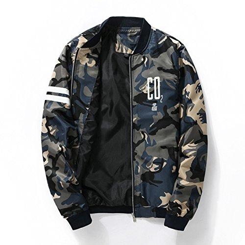 hombres el y de negocios delgada ropa La chaqueta coreanos M gran de Marina chaqueta verano 1860 hombre primavera de jóvenes tamaño camuflaje de 7XEwp