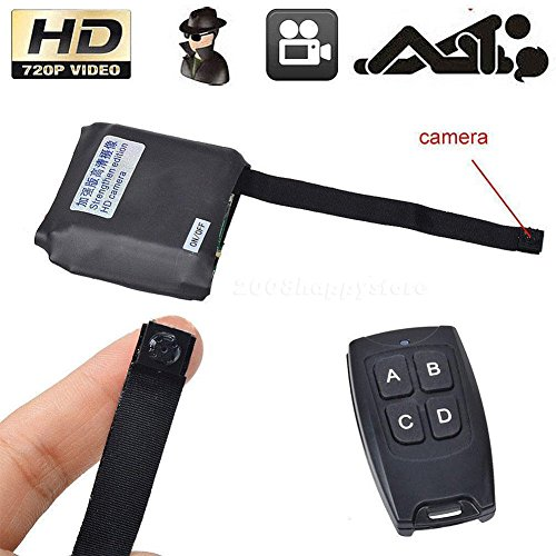 Mini Dvr Portable Pocket (Eachbid Mini Pocket Camera Support 32GB card 1080P Video Recorder Portable Nanny Cam Security Camera with Motion Detection Remote Control)