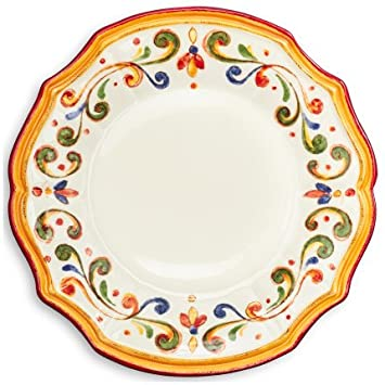 Sur La Table Francesca Dinner Plate  sc 1 st  Amazon.com & Amazon.com   Sur La Table Francesca Dinner Plate: Dinner Plates