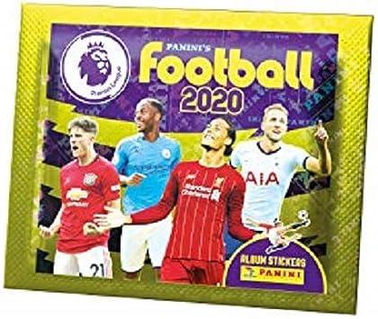 5 x panini fútbol 2020 Premier League oficial Pegatina Álbum Libro Nuevo Reino Unido
