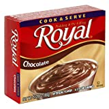 Royal Cook N Serve, Chocolate, 3.125-Ounce Boxes (Pack of 24)