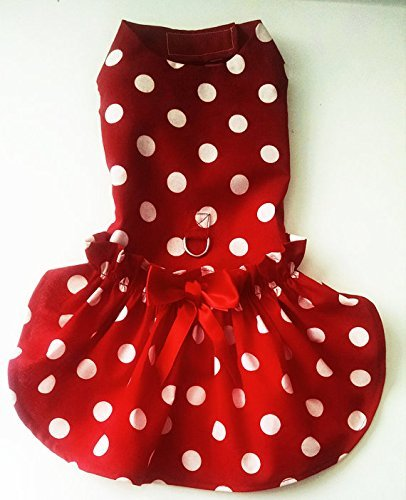 Red and White Polka Dot Harness Dress