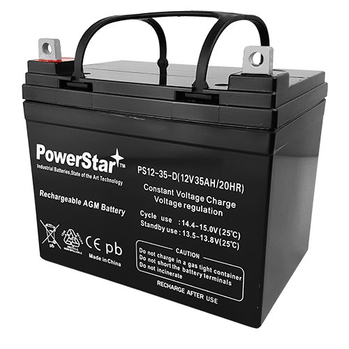 Jazzy(610,1107,1103,1113) Powerchair Power Chair Batteries 2 YEAR WARRANTY by PowerStar (Image #3)