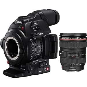 Canon EOS C100 Mark II Cinema EOS Camera with EF 24-105mm f/4L Lens - International Version (No Warranty)