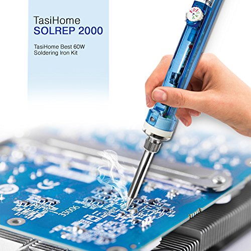 TasiHome 110 V 60W Soldering Iron Kit With Temperature Adjustment For Reliable Electronic Circuit Repairs By Eliminating Component Damage. Robust Electrical And Jewelry Repairs by TasiHome (Image #5)