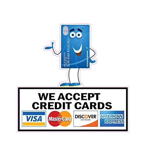 We Accept Credit Cards Concession Restaurant Food Truck Die-Cut Vinyl Sticker 10 inches