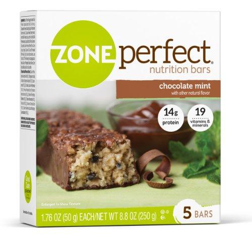 Zone Parfait Nutrition Bar, chocolat à la menthe, 1.76oz.- 30 comte