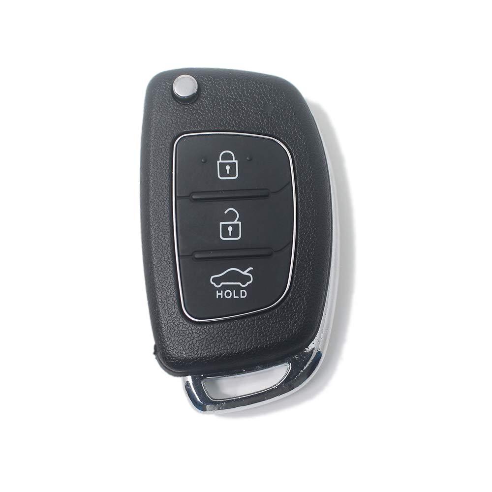 LAGE Ersatzschl/üssel f/ür Fernbedienung Hyundai 3 Tasten Schwarz kompatibel mit i20 i30 i40 ix20 ix30 ix35 ix45 ix55 Tucson Santa Fe Elantra Accent