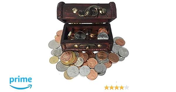 IMPACTO COLECCIONABLES Monedas de COLECCIÓN - 100 Monedas sin Circular de 100 Países + Cofre de Regalo: Amazon.es: Juguetes y juegos