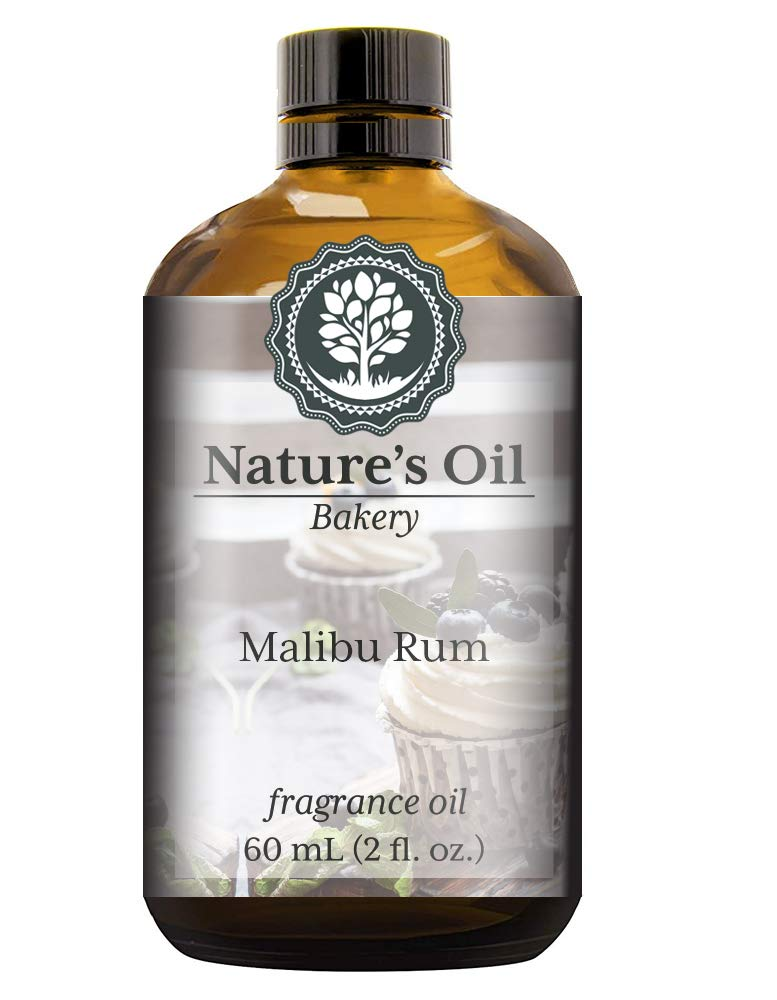 Malibu Rum Cupcakes Fragrance Oil (60ml) For Diffusers, Soap Making, Candles, Lotion, Home Scents, Linen Spray, Bath Bombs, Slime