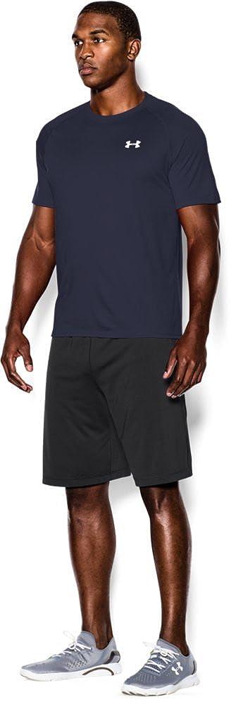 Midnight Navy Under Armour Herren UA Tech Ss Fitness T-Shirt L