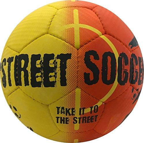 Select Street Soccer Ball, Size 4.5, Orange/Black (Best Freestyle Soccer Ball)