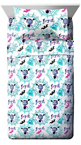 Jay Franco Disney Vampirina Twin Sheet Set - Super Soft and Cozy Kid's Bedding - Fade Resistant Polyester Microfiber Sheets (Official Disney Product)