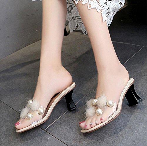 Salvajes Us7 Con Cn38 Zapatos Mujer Arrastrada Zapatillas Uk5 5 De 5 Meili Fuera Palabra Eu38 6xq8zwwY