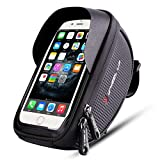 FWX Bike Handlebar Bag,Bicycle Phone Mount,Handlebar Bags with Waterproof Touch Screen Phone Case for fits for Cellphone Below 6.0 inch Such