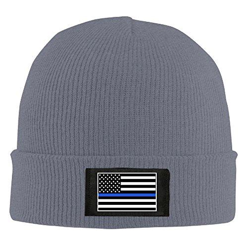 americano la línea azul de Cool el Asphalt Fina Policía apoyo Beanie bandera Slouchy gorro xqHgF