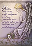 Cemetery Inspirational Angel Arms Double Sided Garden Flag 13 X 18