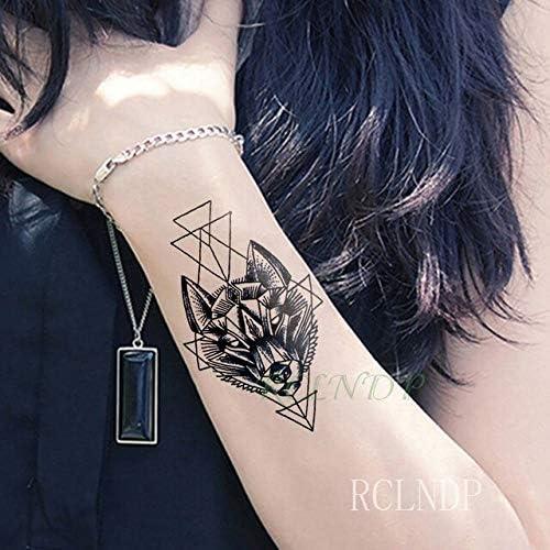 Yyoutop Impermeables Pegatinas de Tatuaje Temporal Wolfhound ...