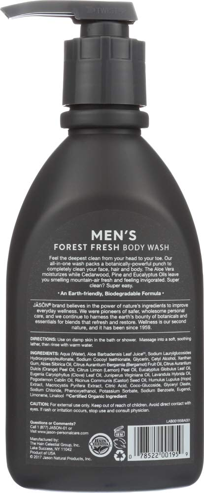 Amazon.com: Jason Natural Cosmetics (1 Item ONLY) Body Wash Mens All in One: Home & Kitchen