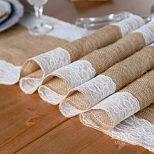 Runner Bag - 1 Roll Table Runners Sack Bags Jute Lace Wedding Christmas Decoration Luxury Burlap Linen Runner 295 - Belt Men Phone Ina For Pack by Unknown (Image #3)