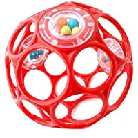 O'Ball Baby rattle ball 0m+ BPA Free (red)