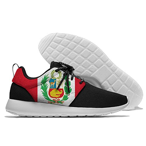 Peru Flag Mesh Cloth Leisure Running Shoes Sneakers Lightweight Sports Shoes Sneakers